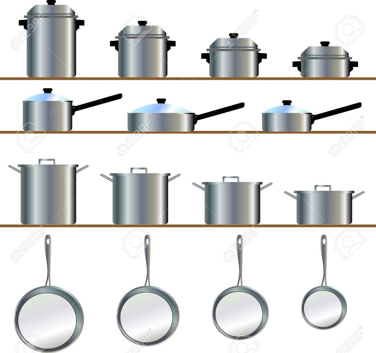 Taille D Une Cuisine une variété de taille pour les batteries de cuisine, casserole, poêle,  ragoût, poêle, casseroles