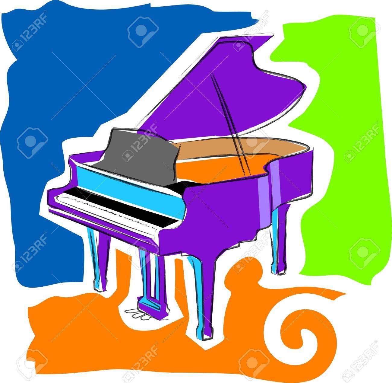 a vector, illustration icon design for a piano Stock Vector - 2714131