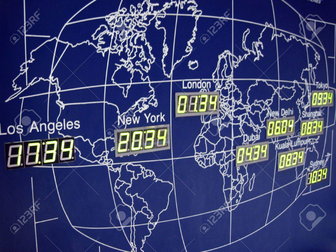 A world map with digital clock in kuala lumpur international stock a world map with digital clock in kuala lumpur international airport stock photo 3376942 gumiabroncs Gallery