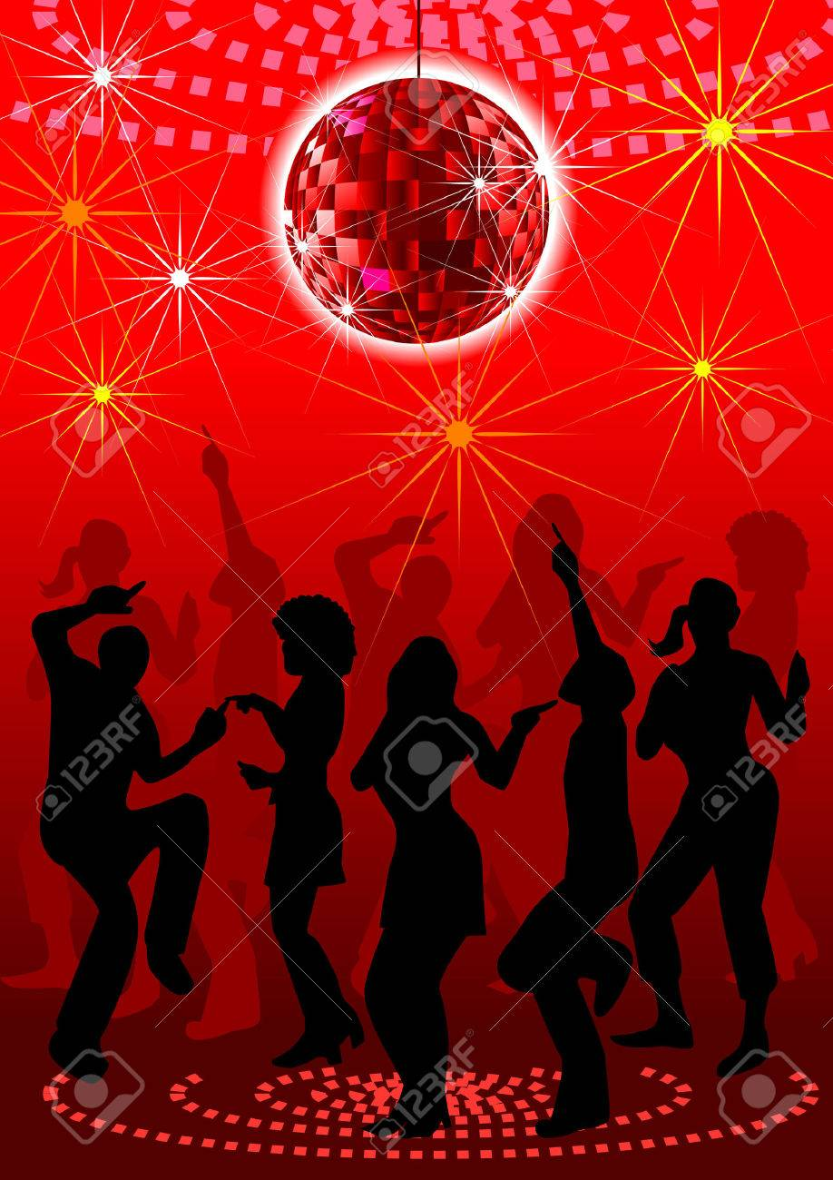 a disco background for block party. Stock Vector - 3427507