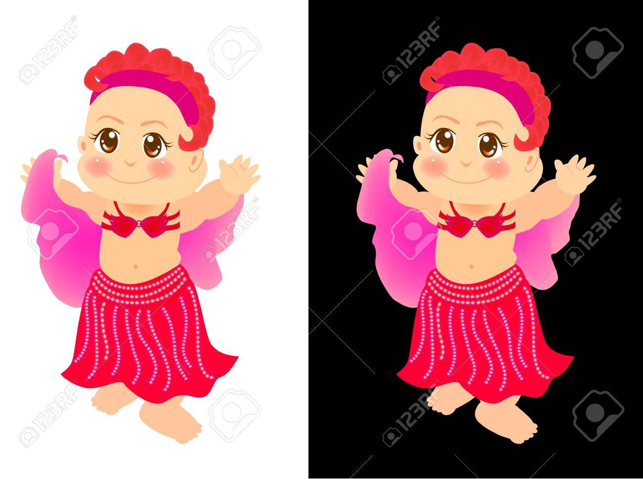 a cute little girl is learn to be a belly dancer. Stock Photo - 11750938