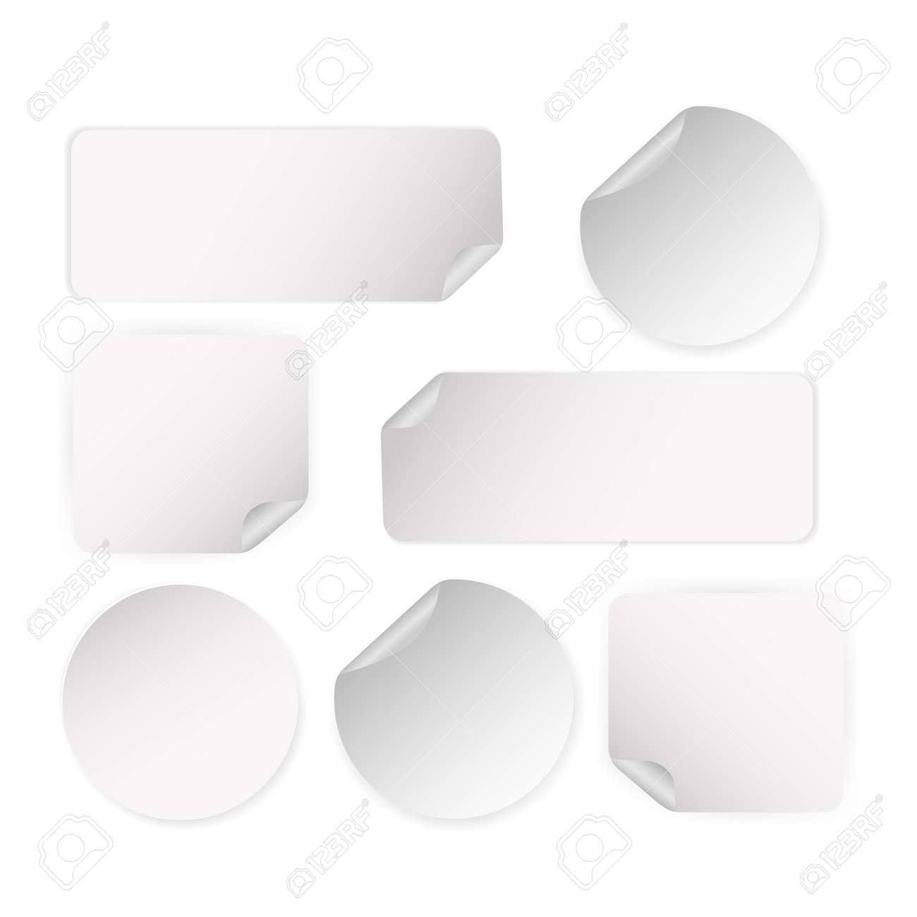Off sticker, great design for any purposes. 3d icon on white backdrop. Blank label - 155695996