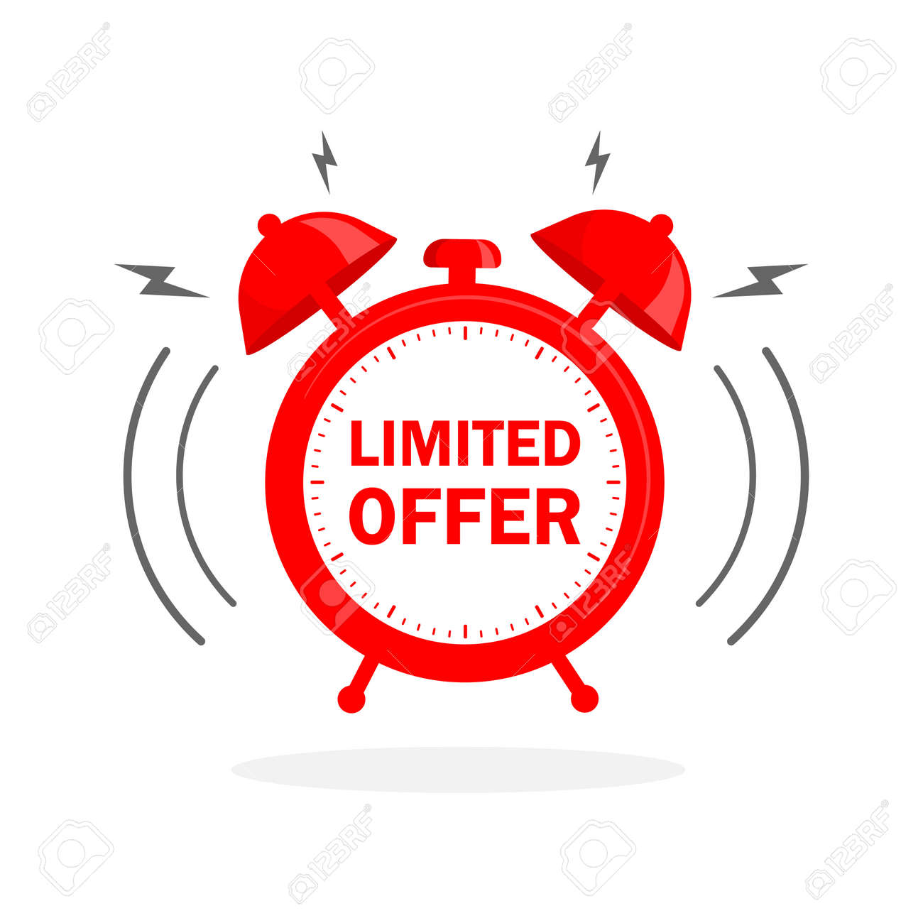 Flat icon with red limited offer for any purpose. Last chance sale. Flat concept. Promotion banner concept - 155699680