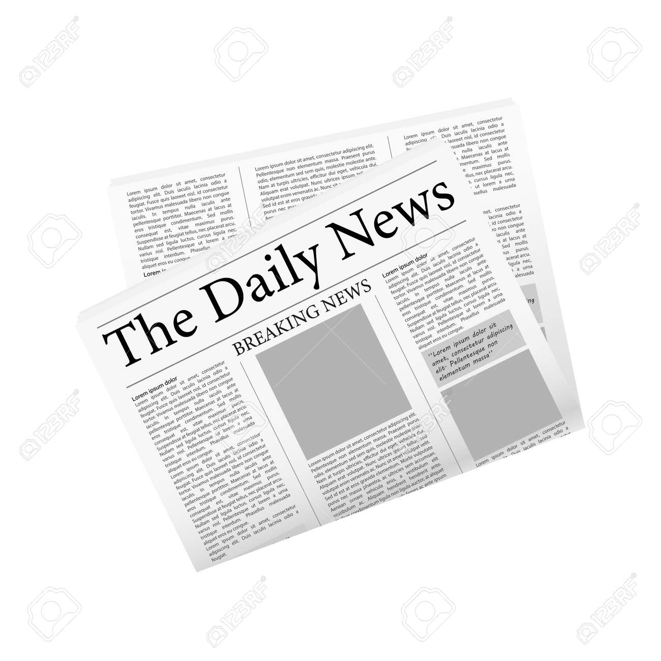 Newspaper, great design for any purposes. editorial print layout. Newspaper template. Daily press empty paper journal mockup - 155701538