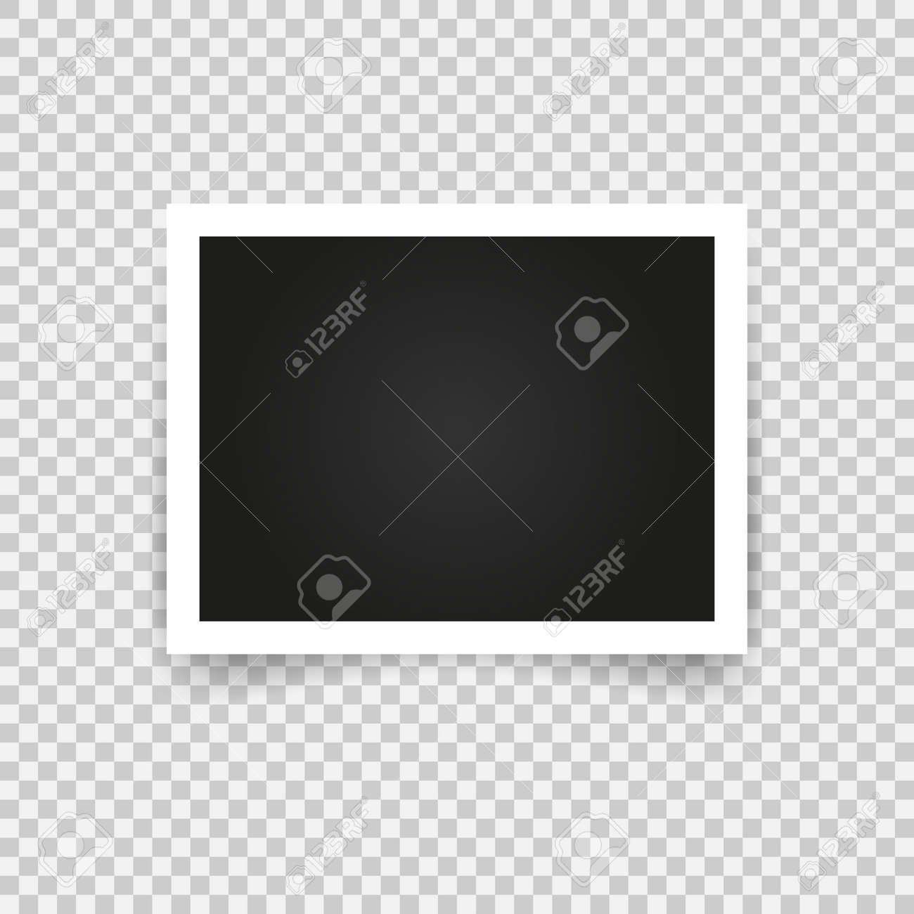 Blank photo frame with adhesive tape, empty space for your photograph. - 155708269