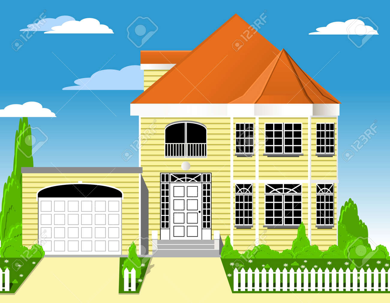 House with garage Stock Photo - 1306001
