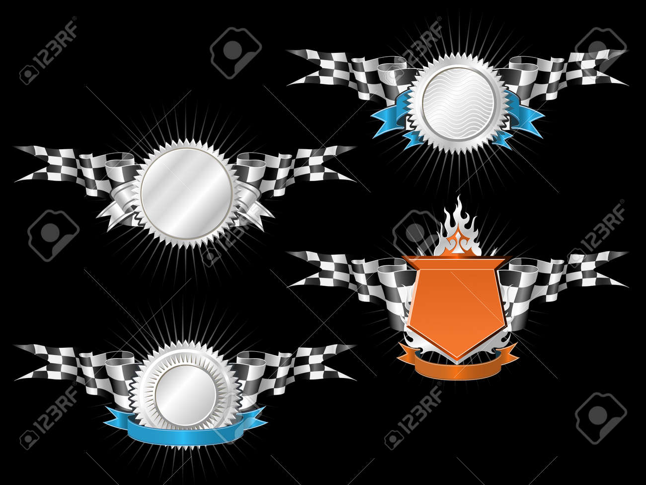RACING EMBLEMS SERIES Stock Vector - 3636156