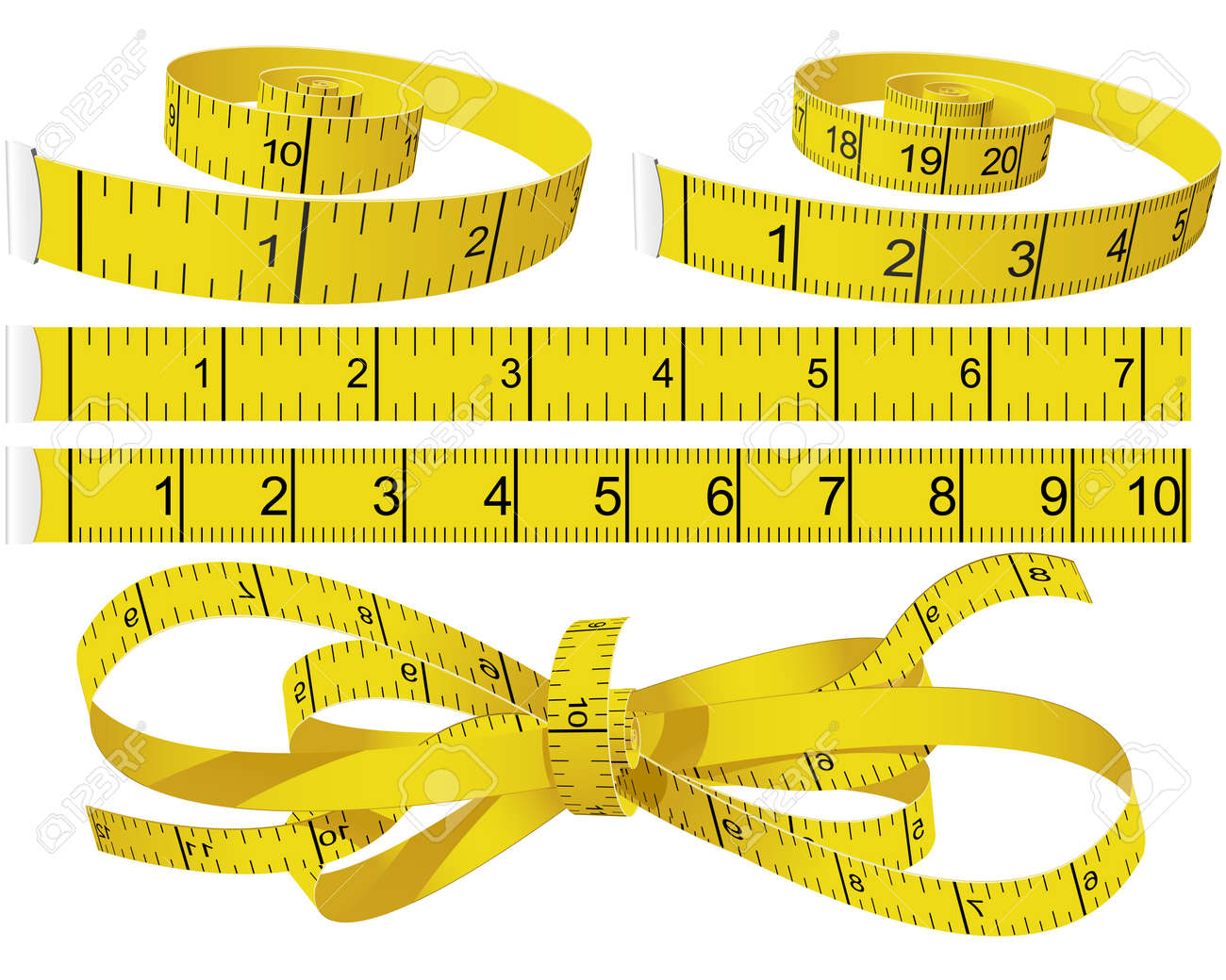 Measuring Tapes Stock Vector - 7184928