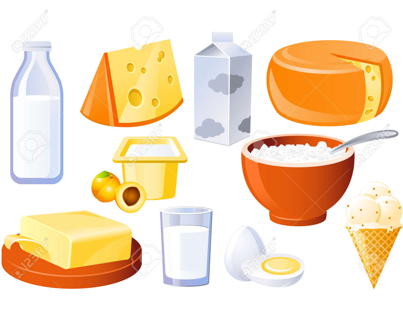 Dairy and poultry products, milk, butter and cheese - 8636822