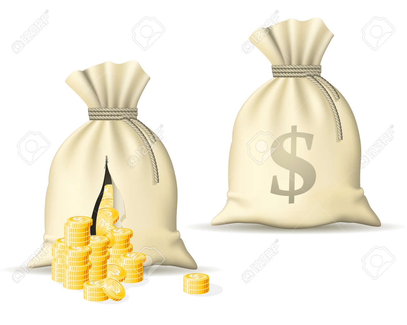 Sack with money Stock Vector - 10981161