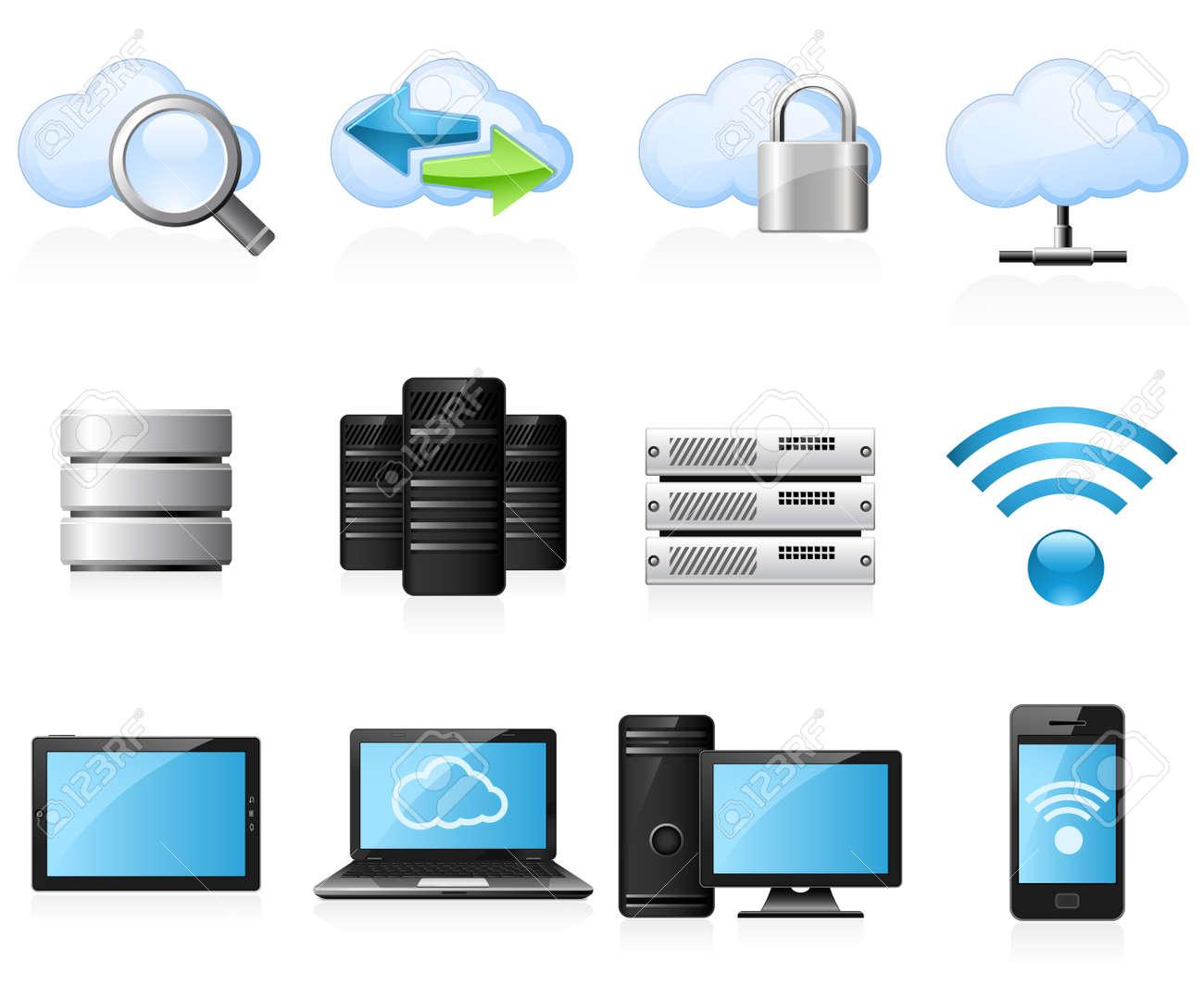 Cloud computing icons Stock Vector - 13043101