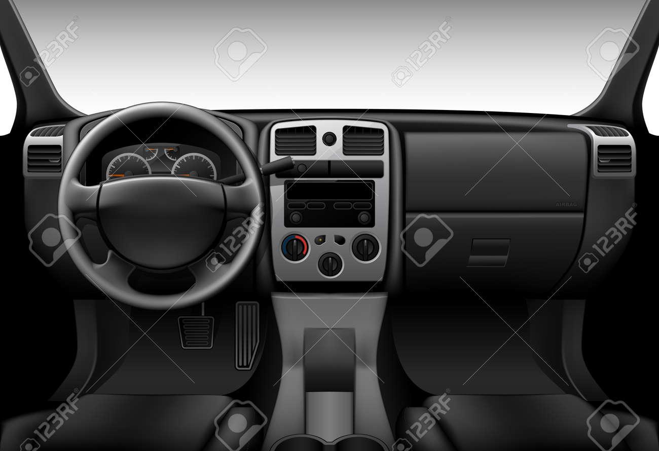 Camion Intérieur - Vue à L\'intérieur De La Voiture, Le Tableau De ...