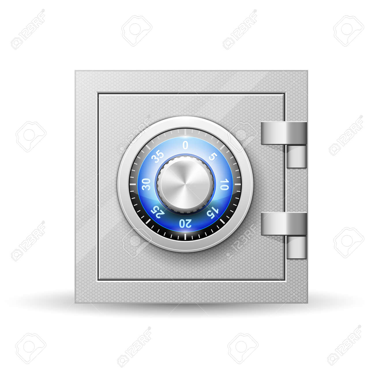Safe with combination lock - vault strongbox, lock box with turning knob with numbers - 136434178
