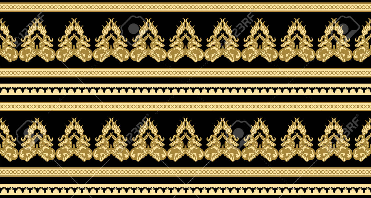 Scythian ethnics. Scythian ornament seamless. Zoological style. Historical seamless pattern. Northern Black Sea region art and culture. Animal in the ancient world. Ethnic pattern - 168197007