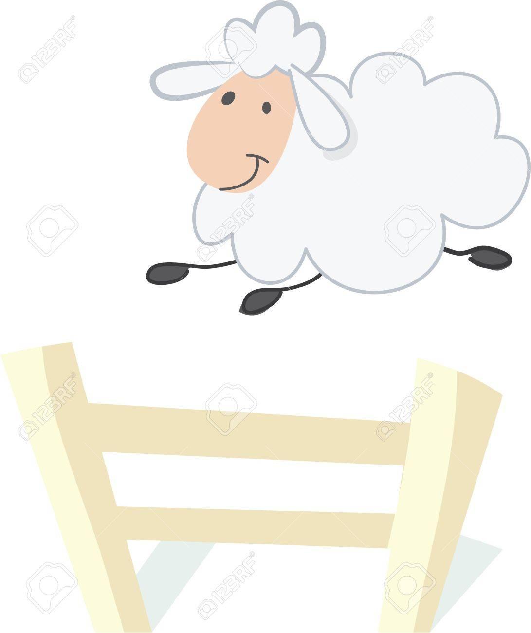 羊を数える就寝このデザインで毛布の上簡単なりますのイラスト素材