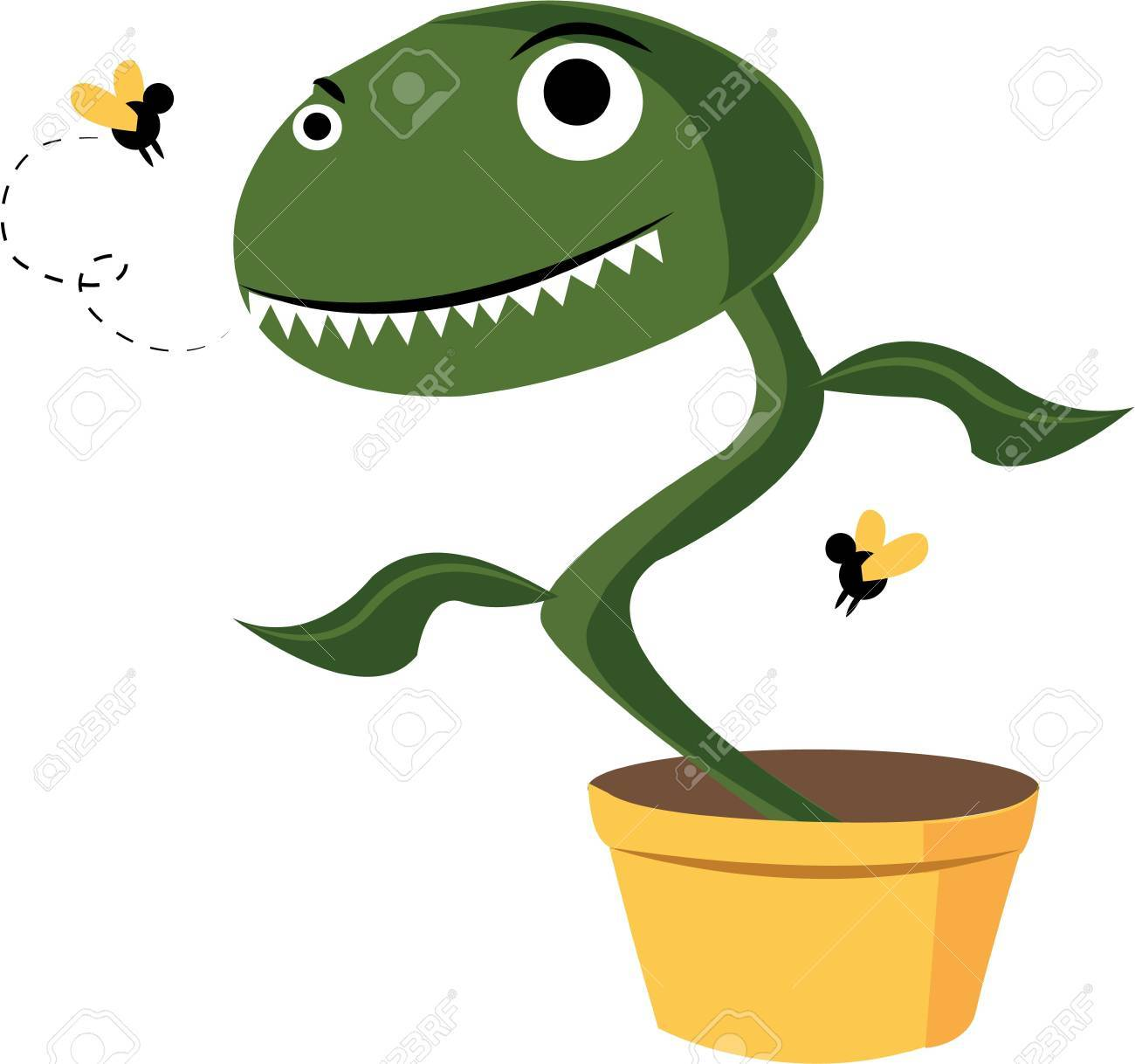 This Silly Fly Trap Will Look Great With Your Gardening Gear. Stock Vector    44805278