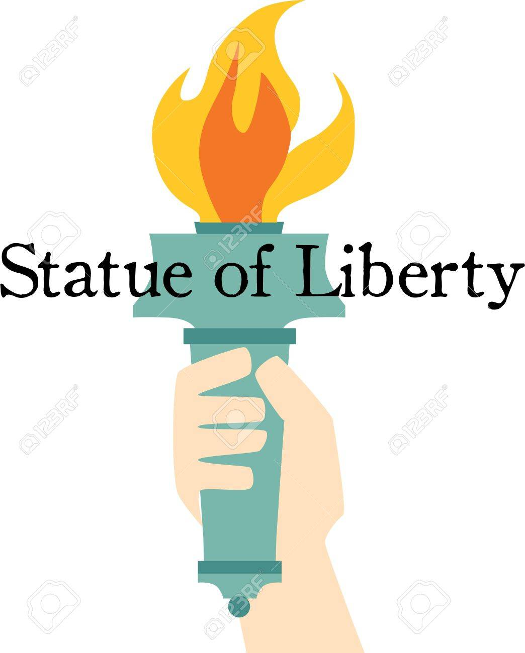 be patriotic with the statue of liberty torch on a t shirt royalty rh 123rf com Statue of Liberty Crown Clip Art Statue of Liberty Torch to Color
