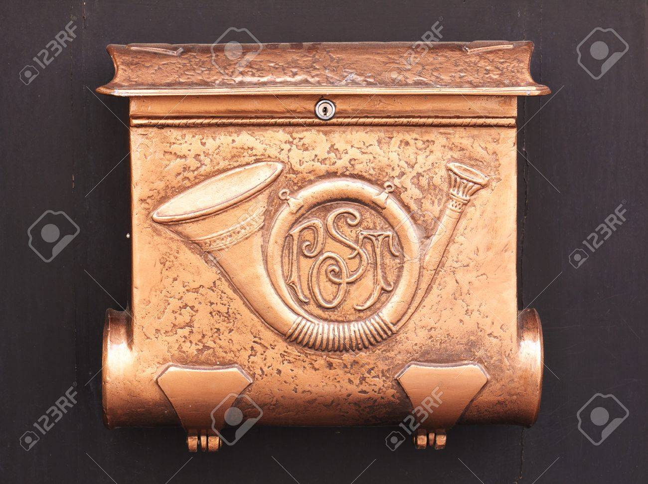 Copper mailbox with postal symbol stock photo picture and royalty copper mailbox with postal symbol stock photo 14564056 buycottarizona Image collections