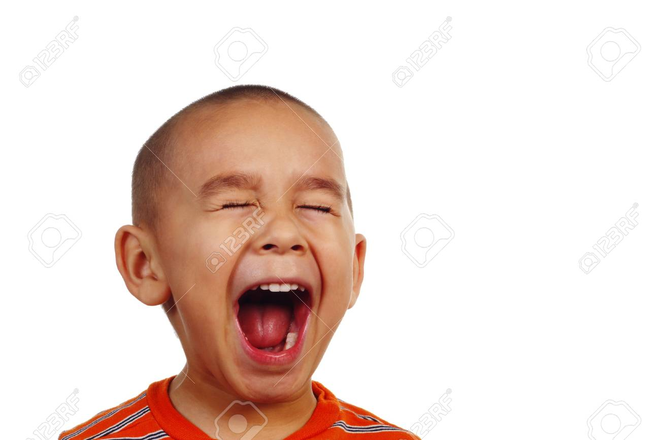 boy screaming with plenty of copy space stock photo picture and