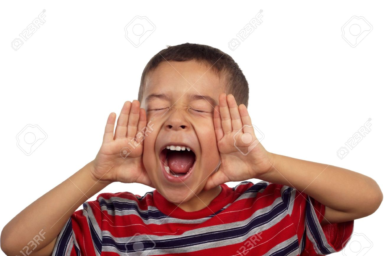 hispanic boy yelling or screaming 5 years old stock photo picture
