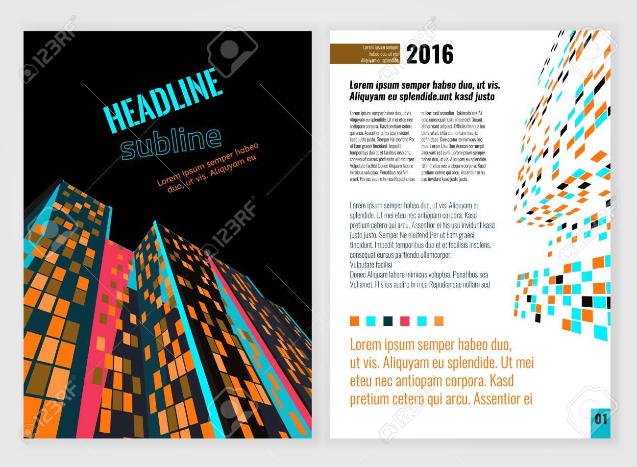 Vector Business-Broschüre Vorlage. Helle, Moderne Hintergründe Für ...