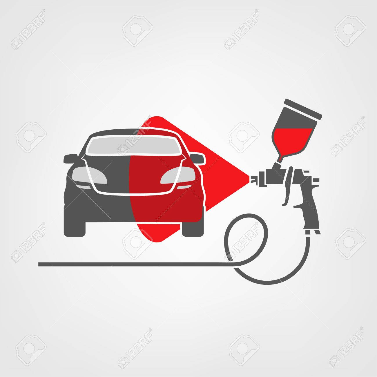 Illustration Of A Car Body Repair Stock Vector