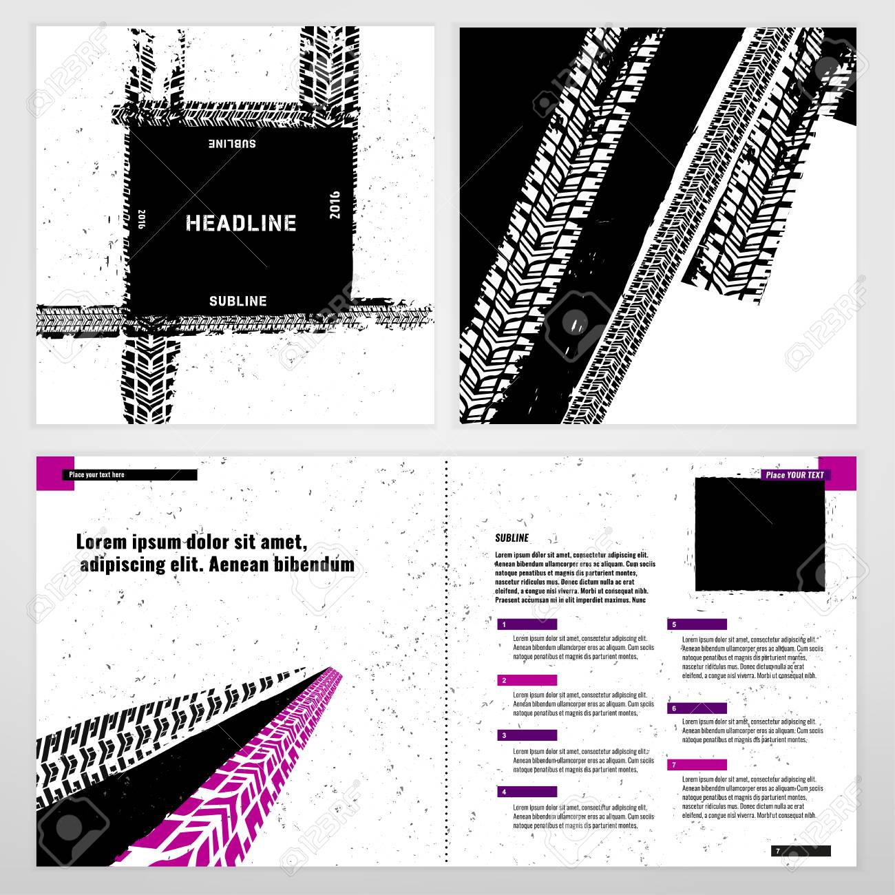 Vector Automotive Brochure Template. Bright Modern Backgrounds ...