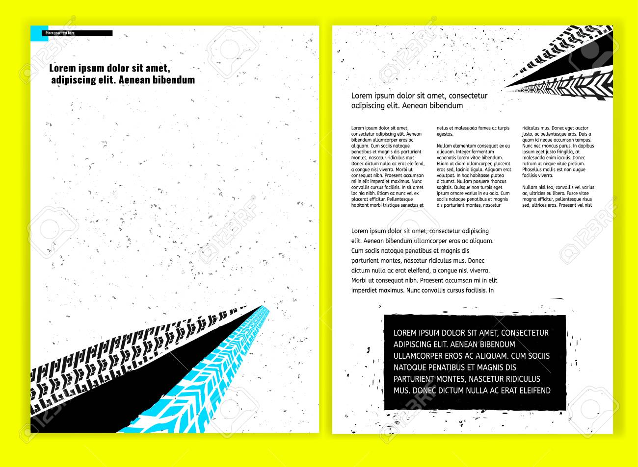 Vector Automobil-Broschüre Vorlage. Helle, Moderne Hintergründe Für ...