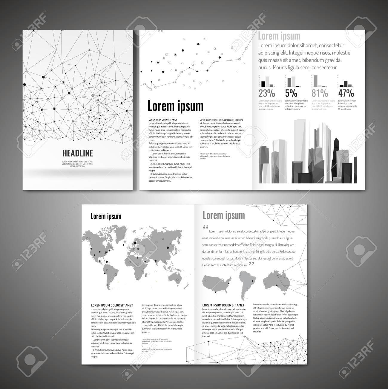 vector business brochure template modern idea for flyer book