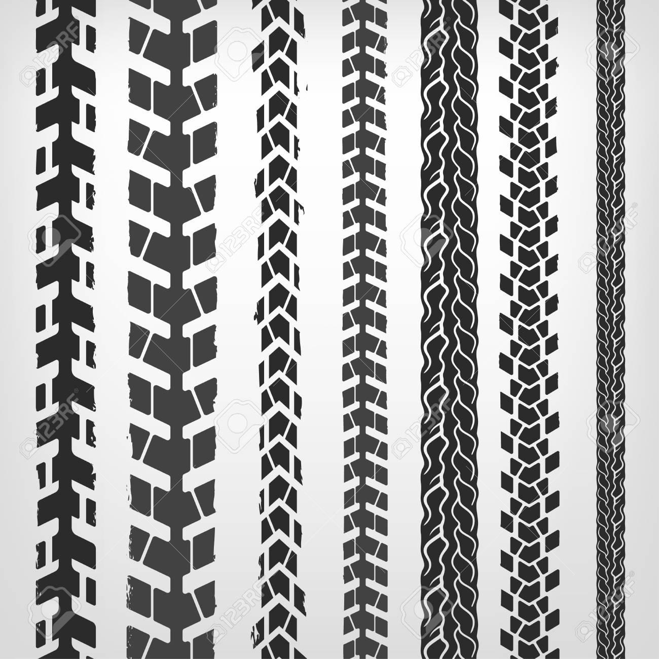 motorcycle tire tracks vector illustration grunge automotive rh 123rf com Tire Track Font Mud Tire Tracks