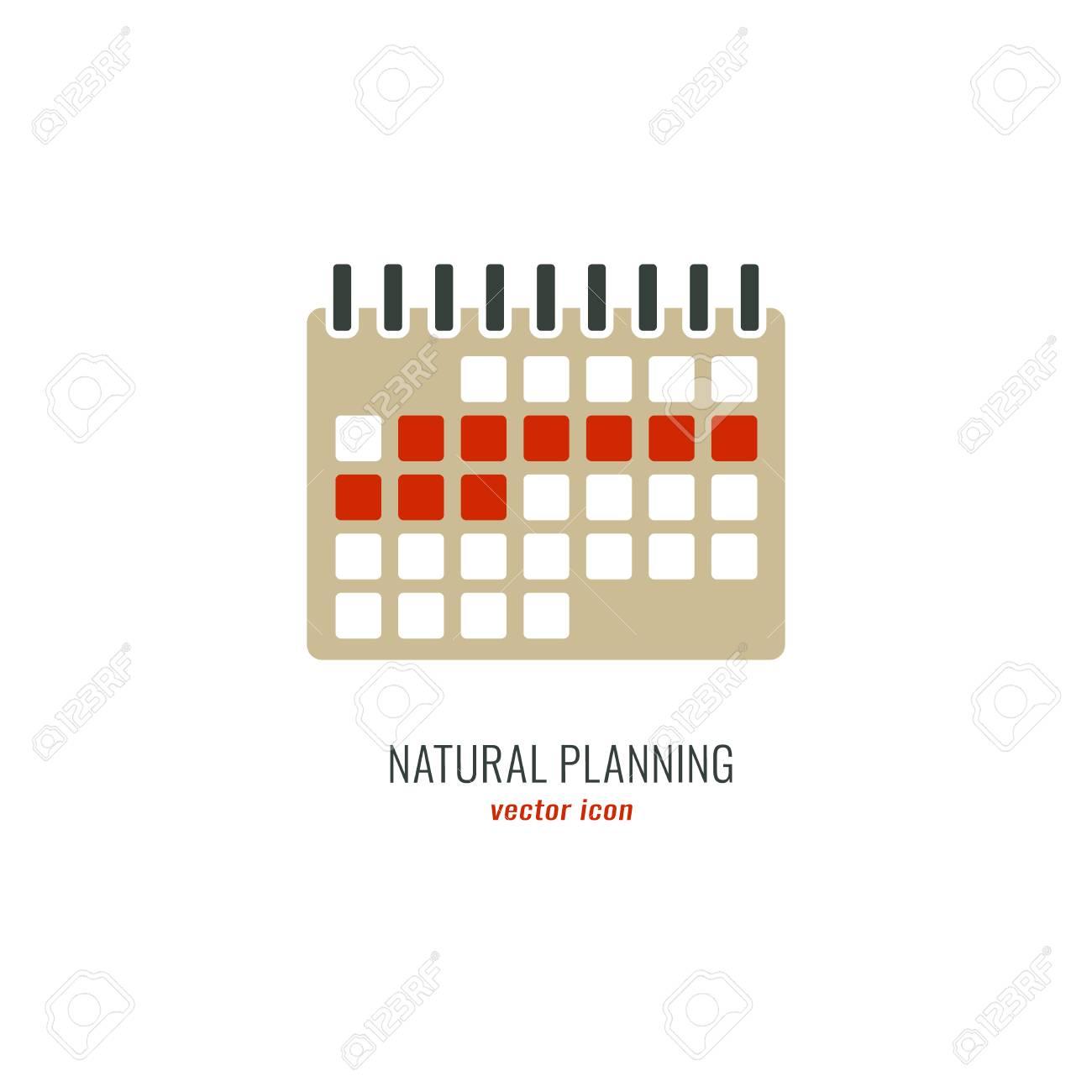 Calendario De Ovulación Femenina Con Días Marcados. Periodo ...