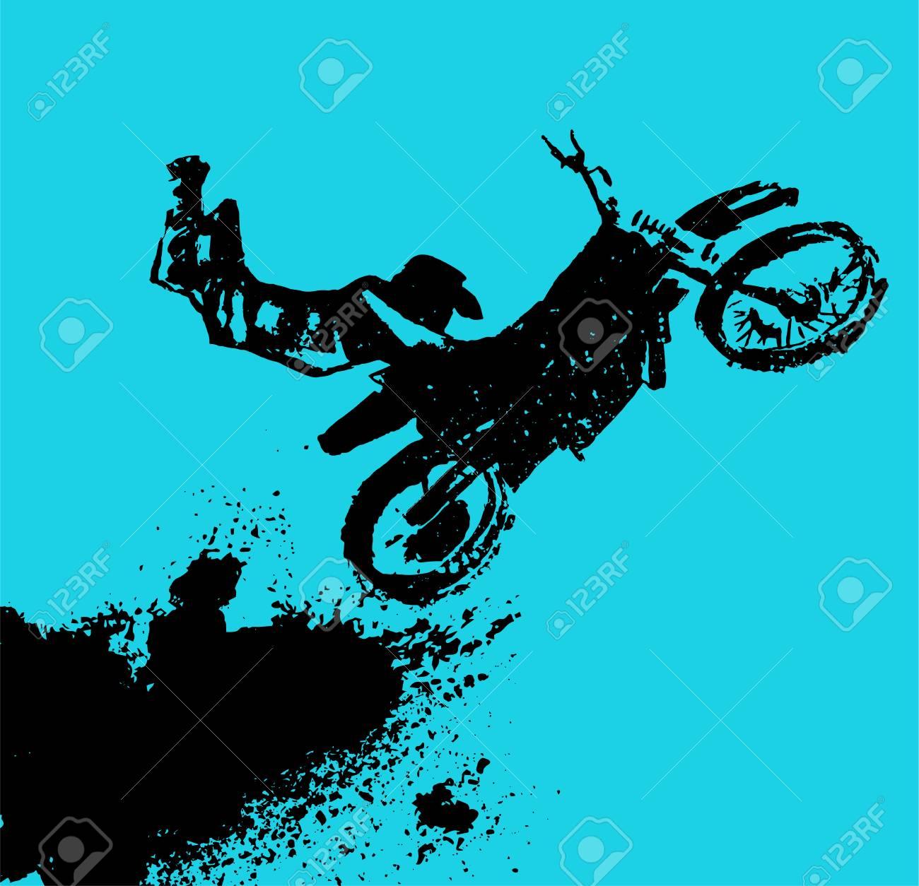 Modèle D élément Automobile Vectoriel Fond De Motocross Grunge Pour Affiche De Paysage Bannière Numérique Flyer Brochure Brochure Et Conception