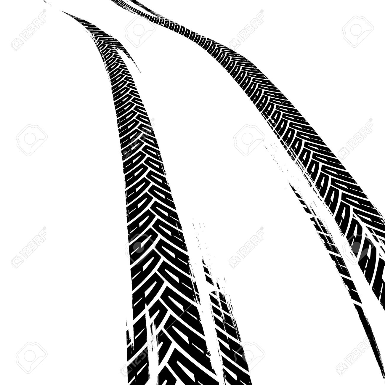 tire tracks print texture off road background graphic vector rh 123rf com tire track vector free tire track vector round border frame