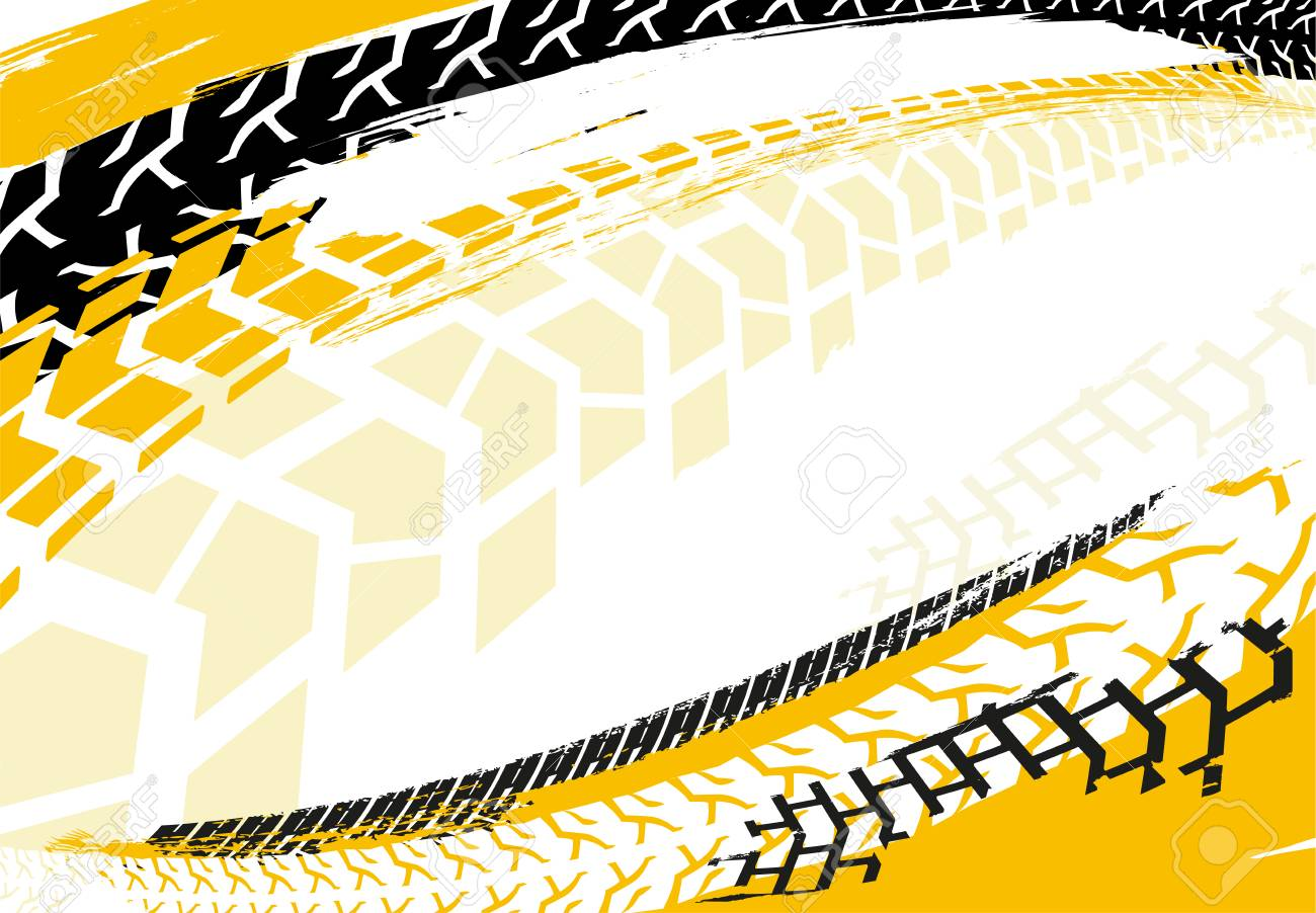 vector automotive banner template grunge tire tracks backgrounds rh 123rf com