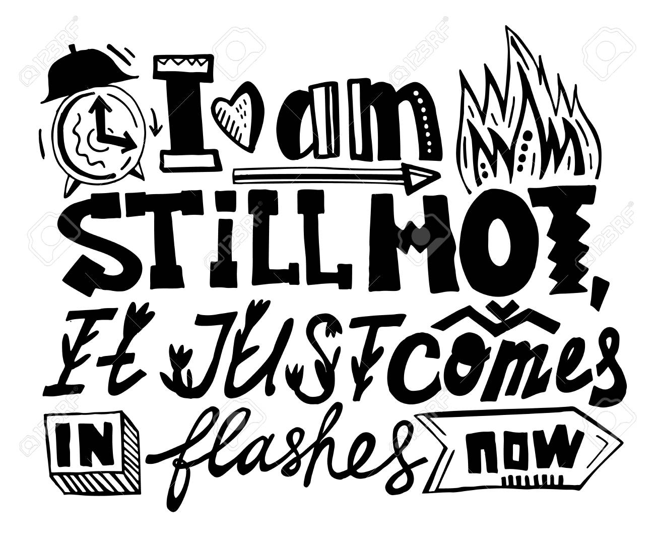 83c33c62 I am still hot, it just comes in flashes. Creative hand drawn lettering.