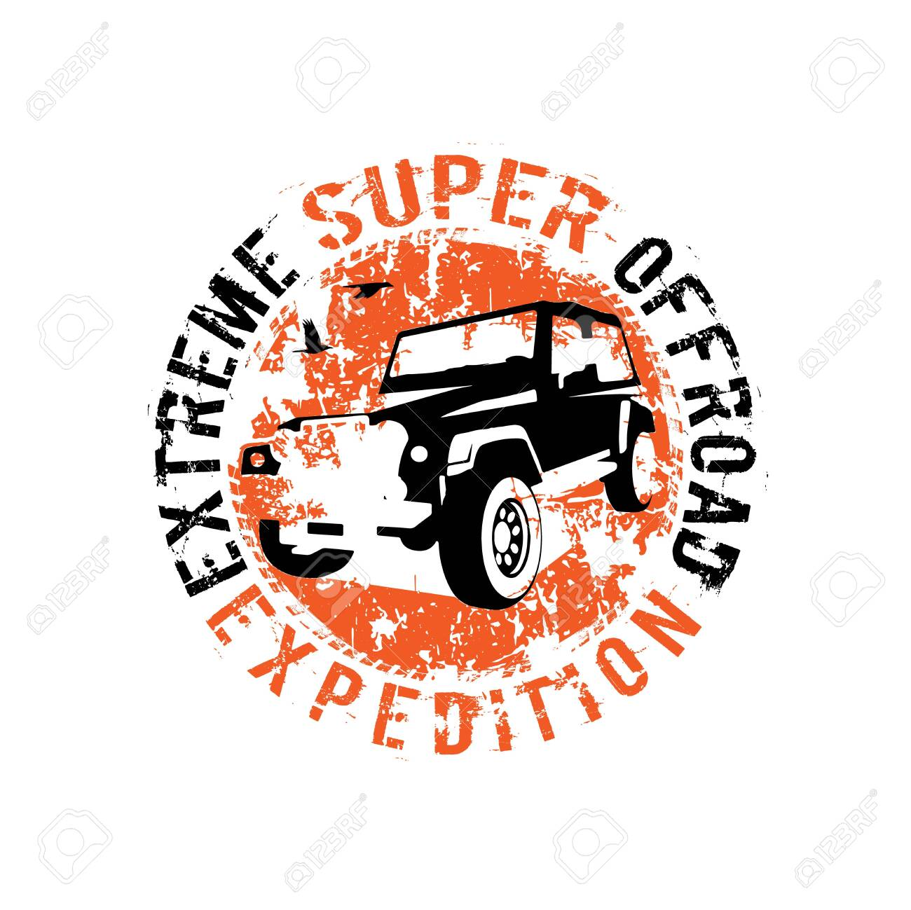 Off Road 4x4 Logo Extreme Competition Emblem Off Roading Suv Royalty Free Cliparts Vectors And Stock Illustration Image 123560016