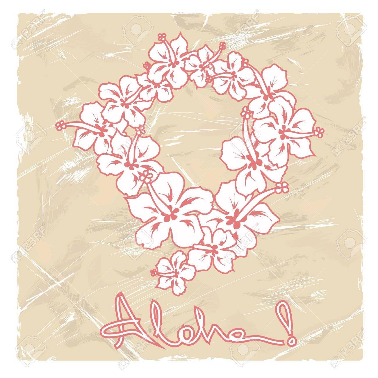 Illustration of hawaiian flower garland on a retro background illustration of hawaiian flower garland on a retro background stock vector 18853657 izmirmasajfo