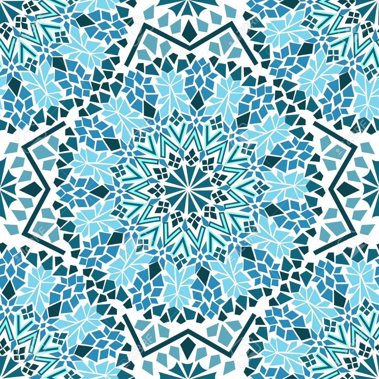 Seamless De Turquoise Mosaïque Marocaine Clip Art Libres De Droits ...