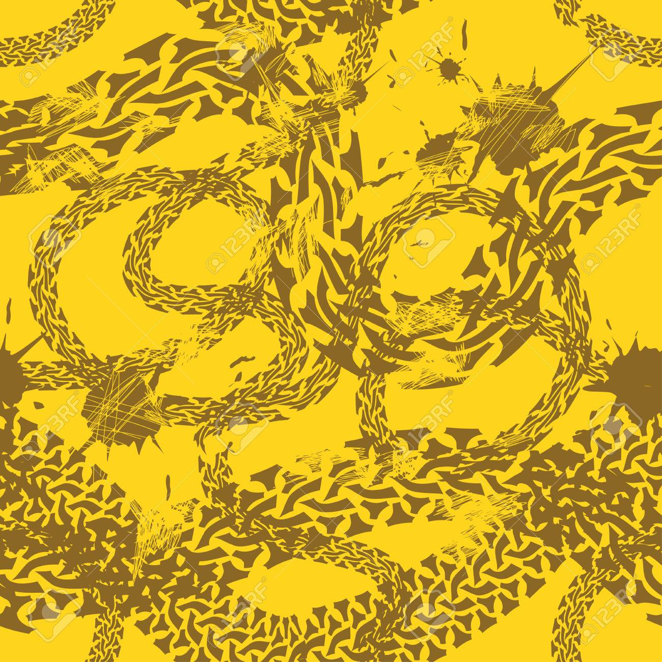 Grunge seamless pattern of tire tracks Stock Vector - 23498616