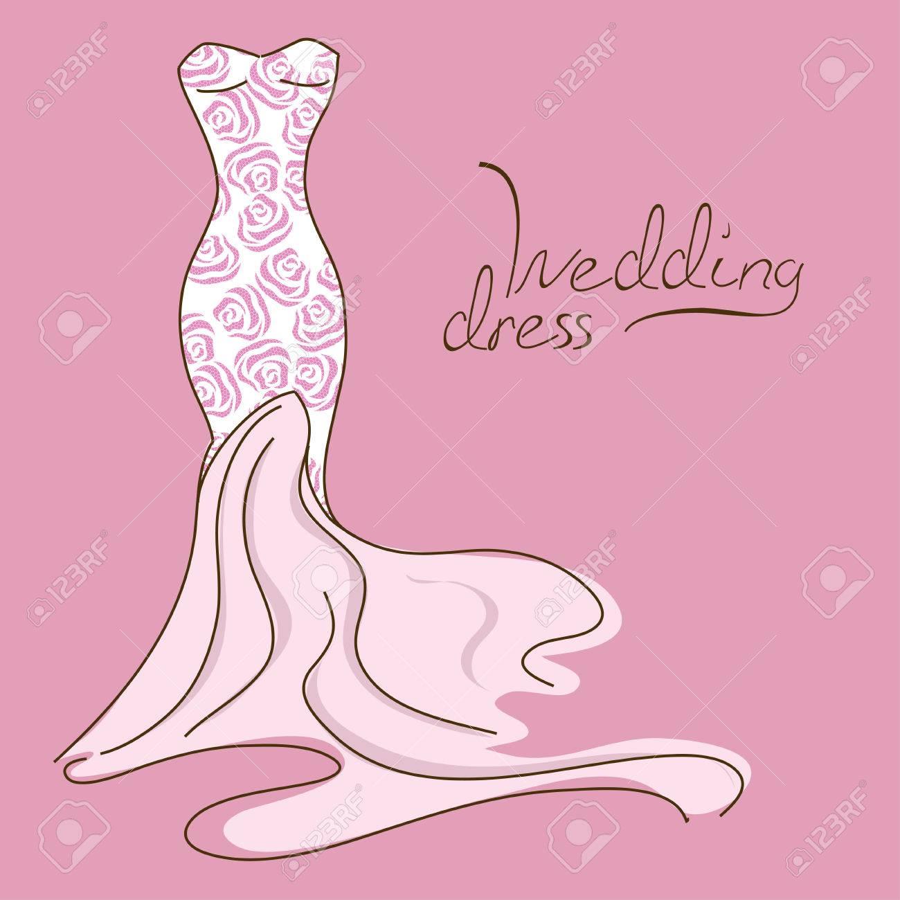 Moderno Vestido De Boda Clip Art Cresta - Colección de Vestidos de ...