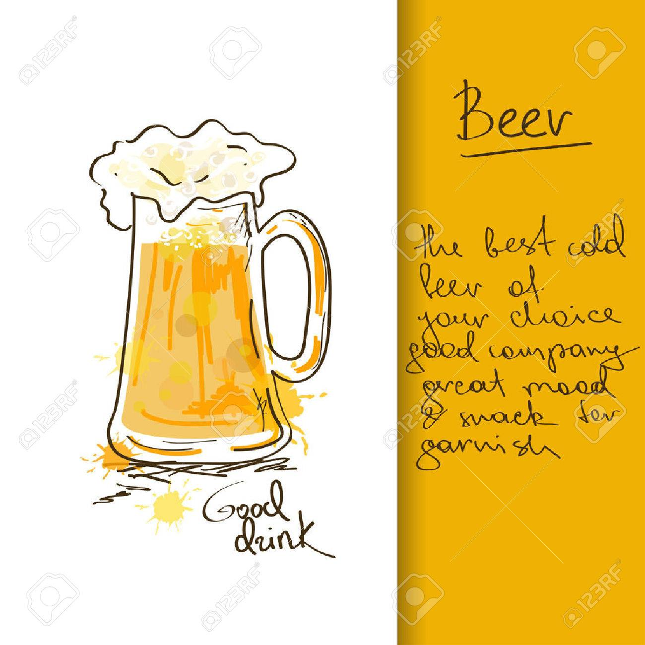 Illustration with hand drawn beer mug Stock Vector - 23503939