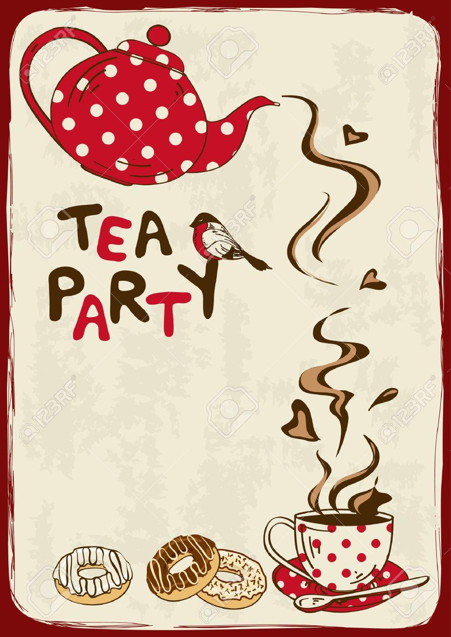 Groß Teeparty Einladung Vorlage Galerie - Beispiel Anschreiben für ...