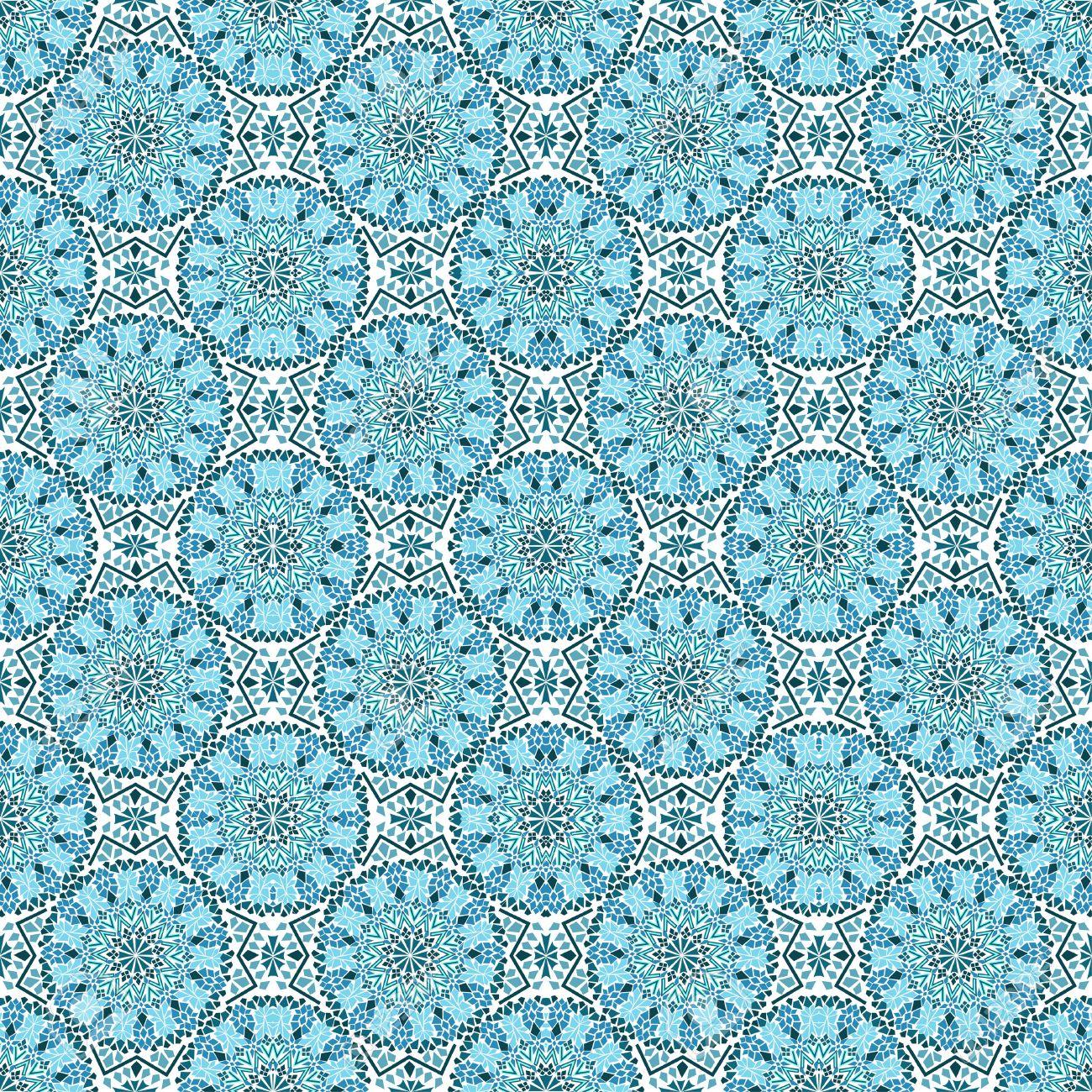 Seamless De Mosaïque Marocaine Turquoise Clip Art Libres De Droits ...
