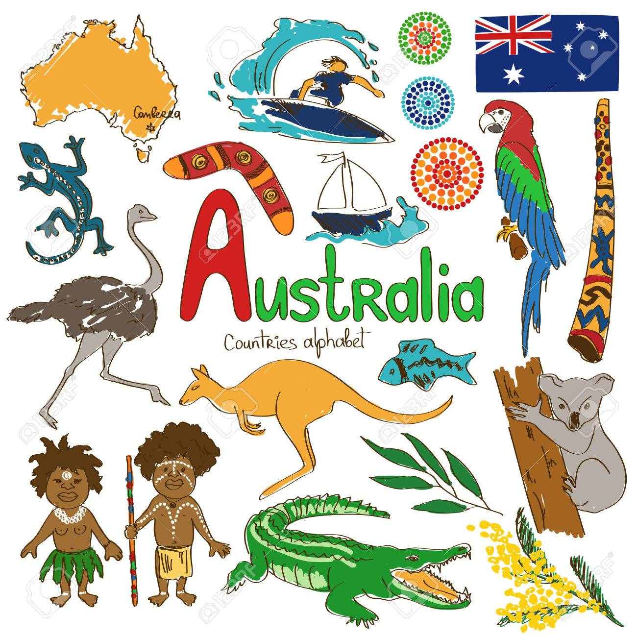 1,144 Australian Outback Stock Vector Illustration And Royalty ...