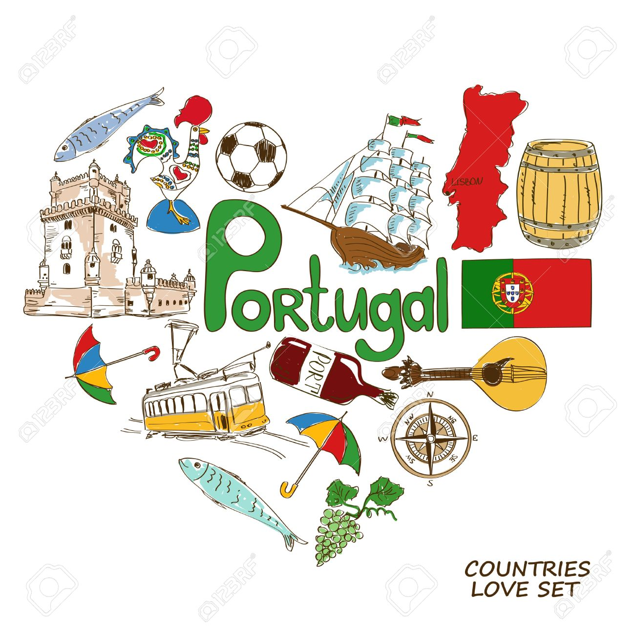 2,101 Portugal Culture Stock Vector Illustration And Royalty Free ...