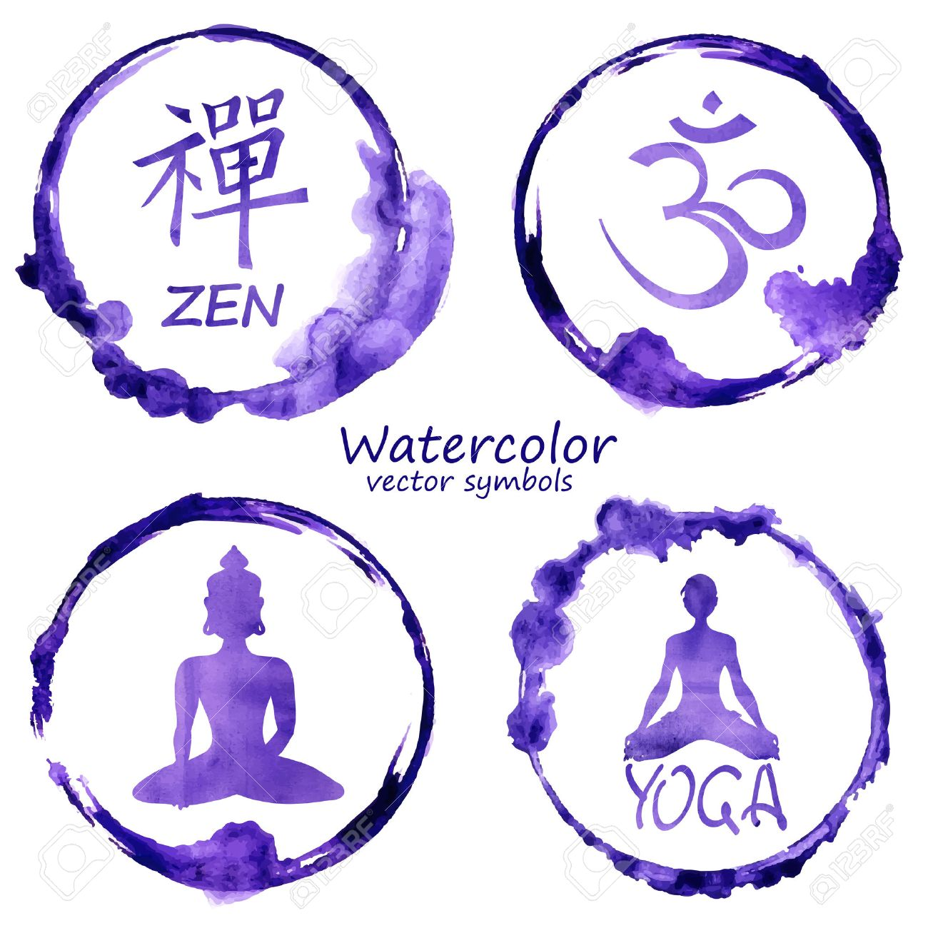 31663 buddhism cliparts stock vector and royalty free buddhism vector watercolor set of yoga and buddhism label icons om zen buddha and buycottarizona Gallery
