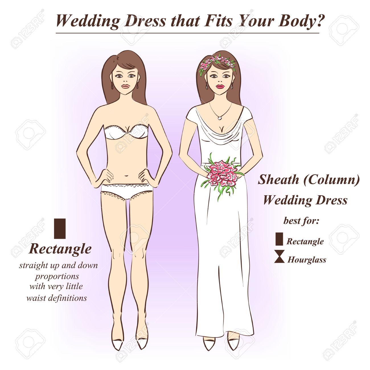 Infografik Der Scheide Oder Spalte Hochzeitskleid, Die Für Die ...
