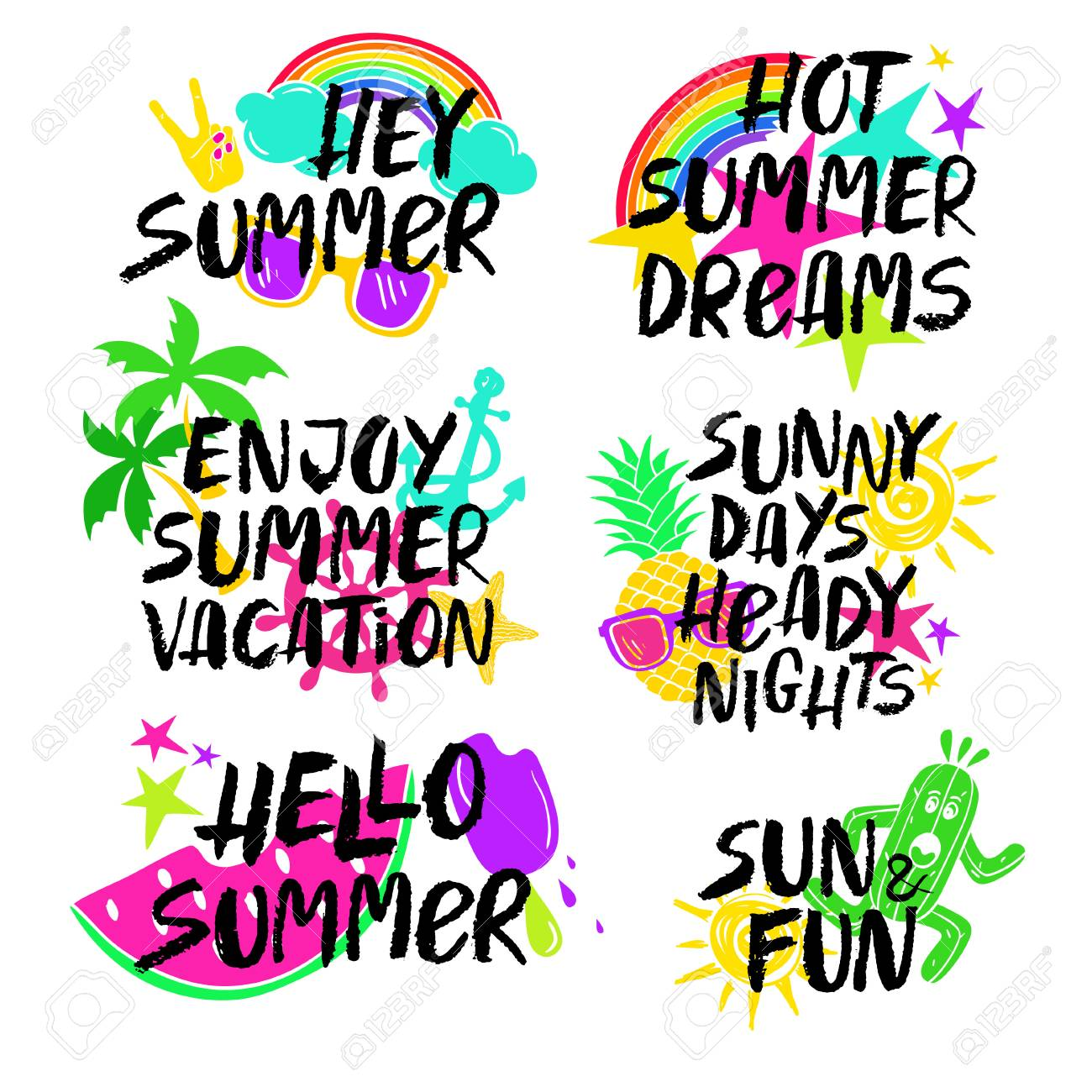 Inspirational Phrases Colorful Collection Of Summer Inspirational And Motivational