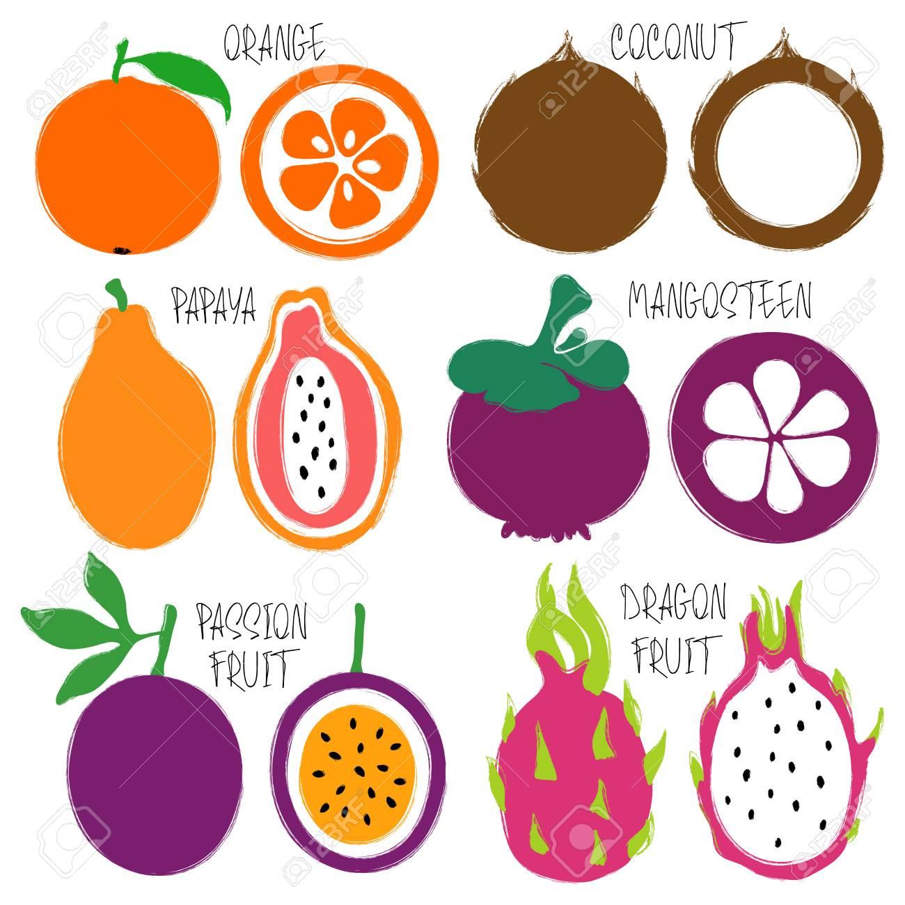 Fruta es el coco citrica una