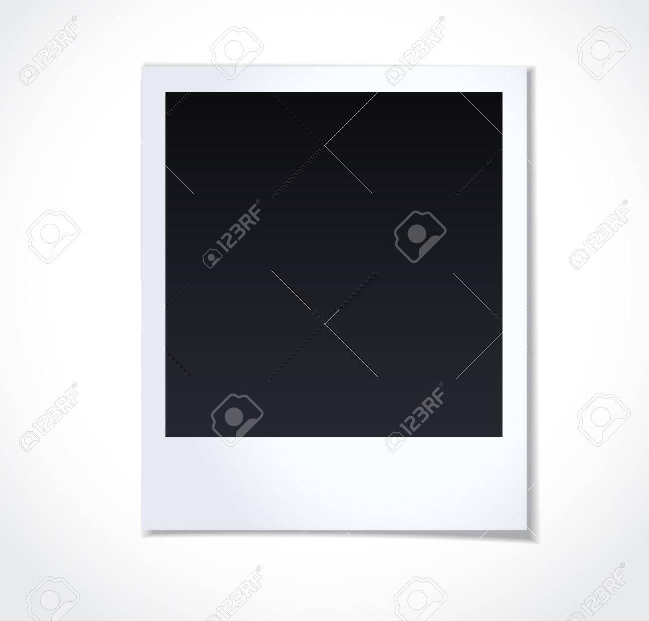 Polaroid Bilderrahmen Auf Weißem Hintergrund Lizenzfrei Nutzbare ...